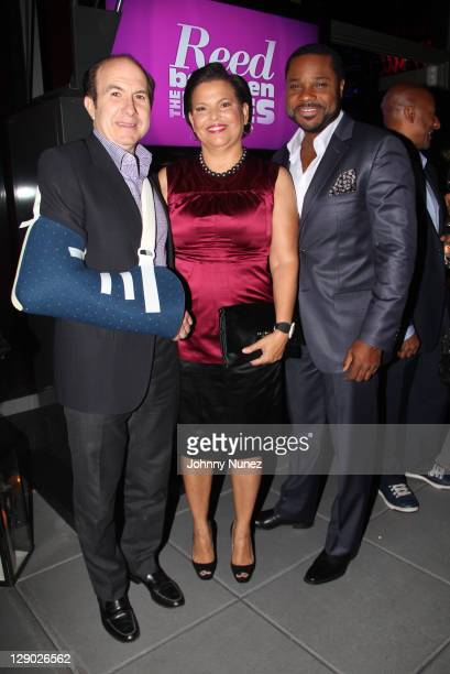 Philippe Dauman Debra L Lee and MalcolmJamal Warner attend the Reed Between The Lines VIP screening at Bar Basque on October 10 2011 in New York City