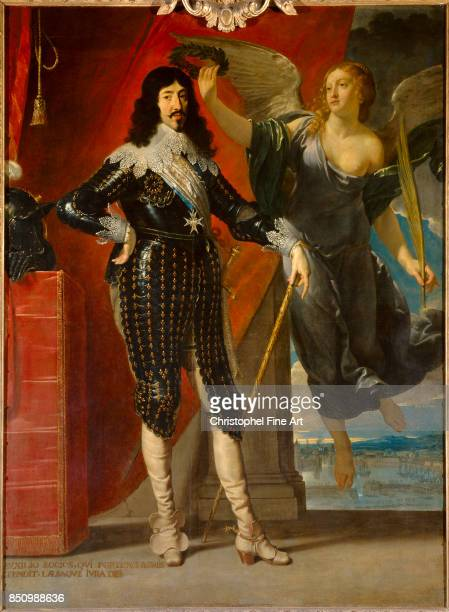 Philippe de Champaigne Portrait of the king Louis XIII Crowned by Victory 1635 Oil on canvas 228 x 175 m Paris Louvre Museum