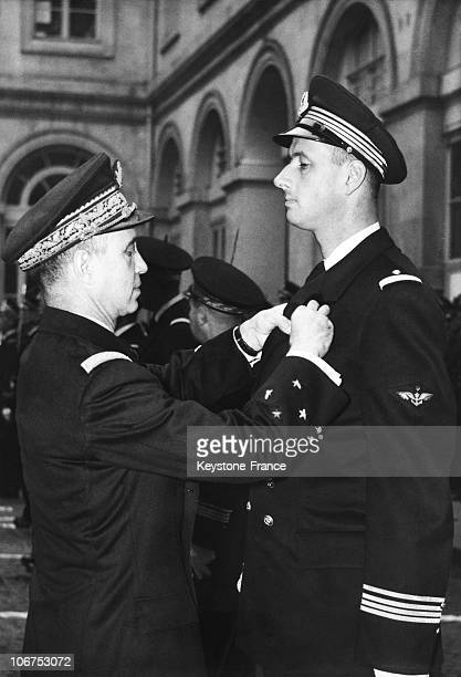 Philippe De Gaulle Decorated With The Legion Of Honour On November 17Th 1956