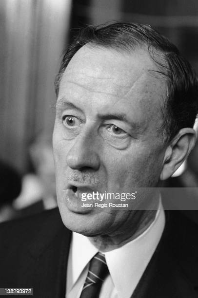 Philippe de Gaulle French engineer and politician at Paris city hall on May 9 1985