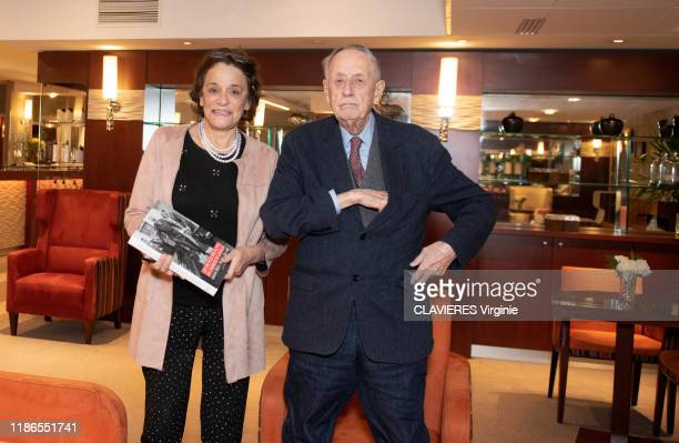 Philippe De Gaulle is photographed for Paris Match with the journalist Caroline Pigozzi on November 07 2019 in France