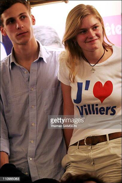 Philippe de Villiers at the National Convention of the Young Patriots of MPF in Paris France on November 25th 2006 Young militants of the MPF...