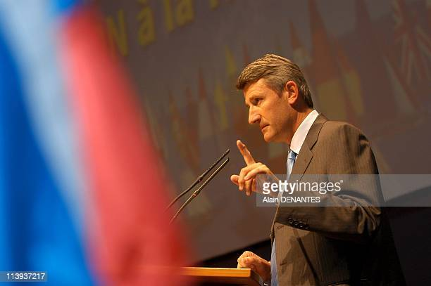 Philippe De Villiers launches campaign for 'No' to the referendum on the EU Constitution In France On September 12 2004Philippe De Villiers chairman...