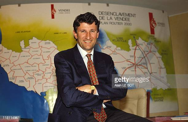 Philippe de Villiers president of the general council of Vendee in La Roche Sur Yon France on May 08 1992
