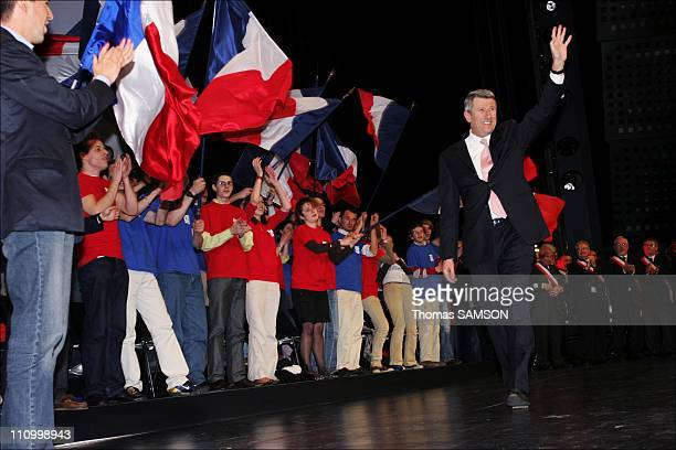 Philippe de Villiers president of the Movement of France and a candidate of the presidential election in 2007 in Paris France on March 31 2007