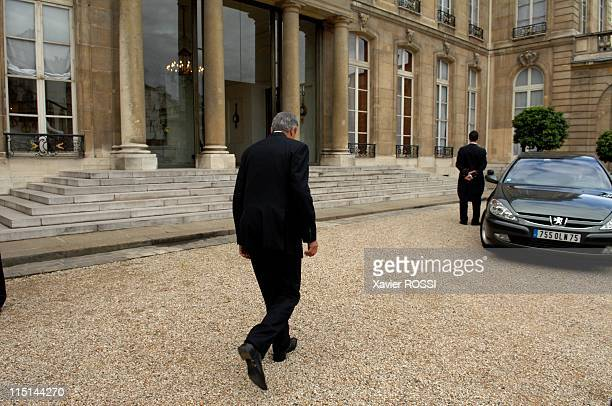 Philippe De Villiers received at the Elysee in the preparation of the European Council in Paris France on June 18 2007