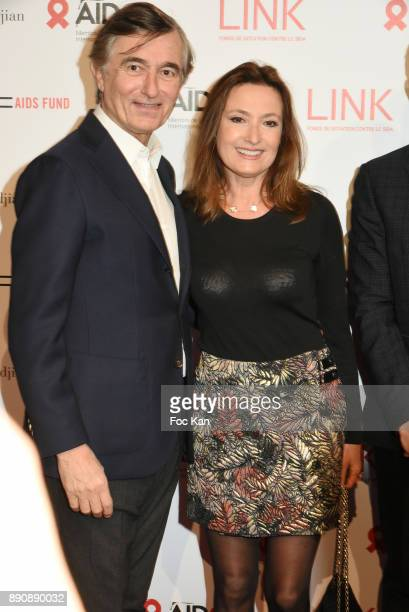 Philippe Douste Blazy and MarieYvonne Douste Blazy attend Link Pour Aides Charity Dinner at Pavillon Cambon on December 11 2017 in Paris France