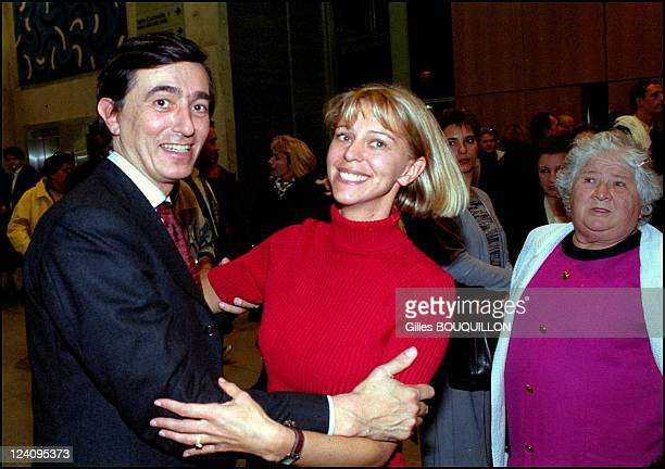 Philippe Douste Blazy launching his campaign In Toulouse France On January 282001 With Florence Baudis