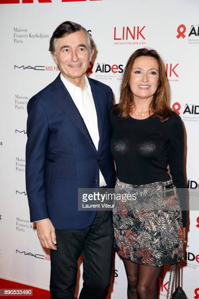 Philippe DousteBlazy and his wife MarieYvonne attend Link for Aides Charity Dinner at Pavillon Cambon Capucines on December 11 2017 in Paris France