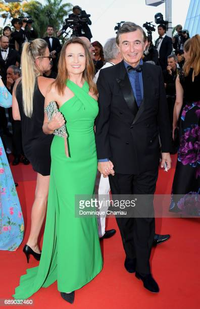 Philippe DousteBlazy and his wife MarieYvonne attend the Based On A True Story screening during the 70th annual Cannes Film Festival at Palais des...