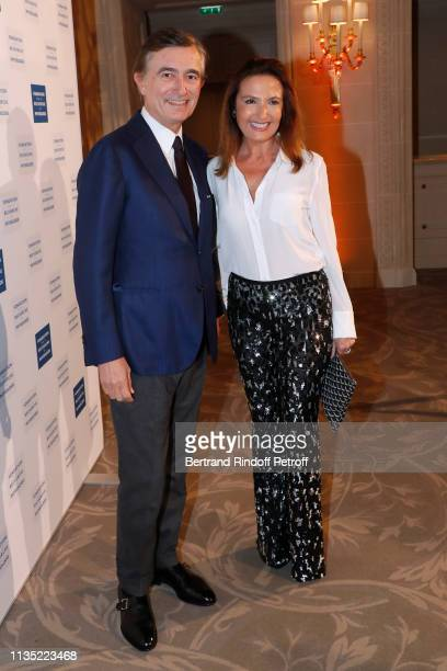 Philippe DousteBlazy and his wife MarieYvonne DousteBlazy attend the Stethos d'Or 2019 Charity Gala of the Foundation for Physiological Research at...