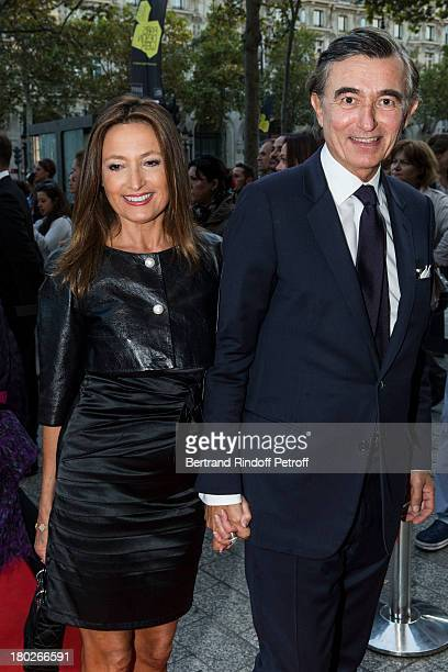 Philippe DousteBlazy and MarieLaure Bec arrive to the premiere of the movie Quai d'Orsay organized by the Claude Pompidou foundation prior to hosting...