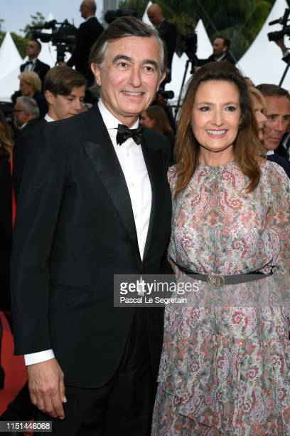 Philippe DousteBlazy and MarieYvonne DousteBlazy attend the screening of Sibyl during the 72nd annual Cannes Film Festival on May 24 2019 in Cannes...