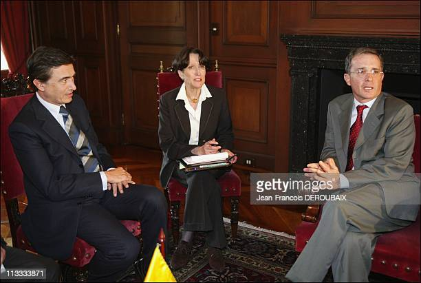 Philippe DousteBlazy In Colombie On January 26Th 2006 In Bogota Colombia Here The Minister Of Foreing Affairs MPhilippe DousteBlazy Went To Bogota On...