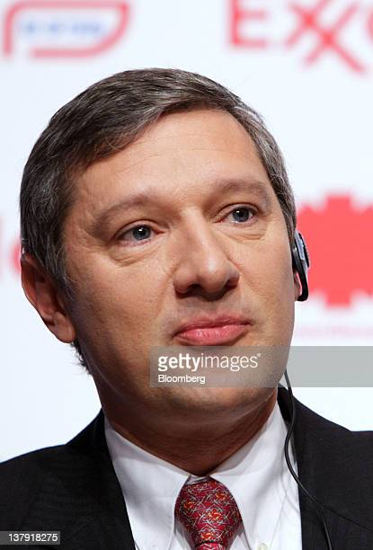 Philippe Ducom president of ExxonMobil Group Japan attends a news conference in Tokyo Japan on Monday Jan 30 2012 TonenGeneral Sekiyu KK agreed to...