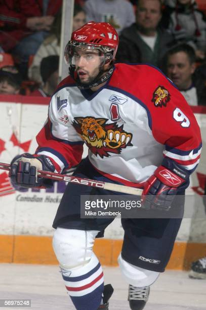 Philippe Dupuis of the Moncton Wildcats skates against the Halifax Mooseheads at the Halifax Metro Centre on January 8 2006 in Halifax Nova Scotia...