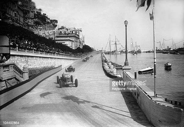 Philippe Etancelin drives the Maserati 8CM during the Grand Prix of Monaco on 2nd April 1934 on the streets of the Principality of Monaco in Monte...