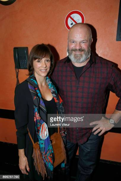 Philippe Etchebest and his wife Dominique attend 'Laurent Gerra Sans Moderation' at L'Olympia on December 27 2017 in Paris France