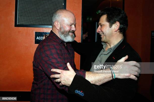 Philippe Etchebest and Laurent Gerra attend 'Laurent Gerra Sans Moderation' at L'Olympia on December 27 2017 in Paris France