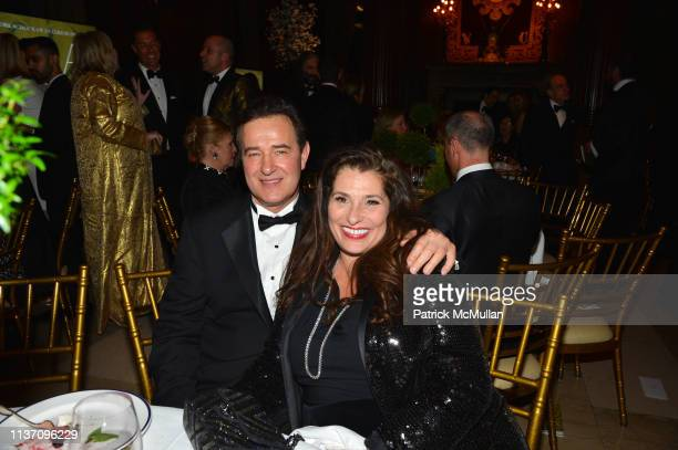 Philippe Farcy and Dolly Fox attend New York School Of Interior Design Annual Gala at The University Club on March 5, 2019 in New York City.