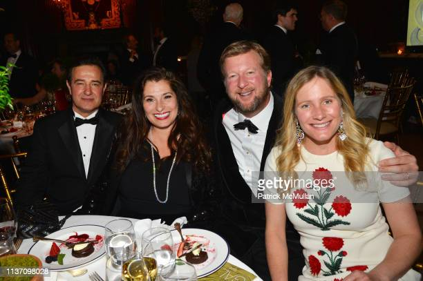 Philippe Farcy, Dolly Fox, Andrew Allen and Katie Allen attend New York School Of Interior Design Annual Gala at The University Club on March 5, 2019...