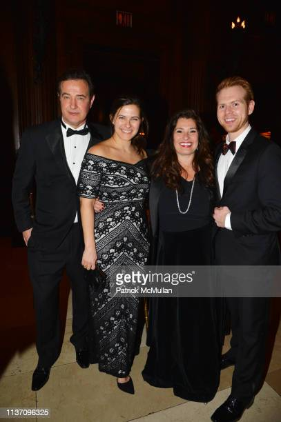 Philippe Farcy, Sloane Hubbuch, Dolly Fox and Levi Blasdel attend New York School Of Interior Design Annual Gala at The University Club on March 5,...