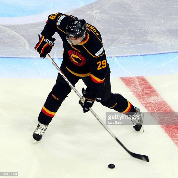 Philippe Furrer of Bern in action during the IIHF Champions Hockey League match between SC Bern and Espoo Blues at the PostFinance Arena on October...