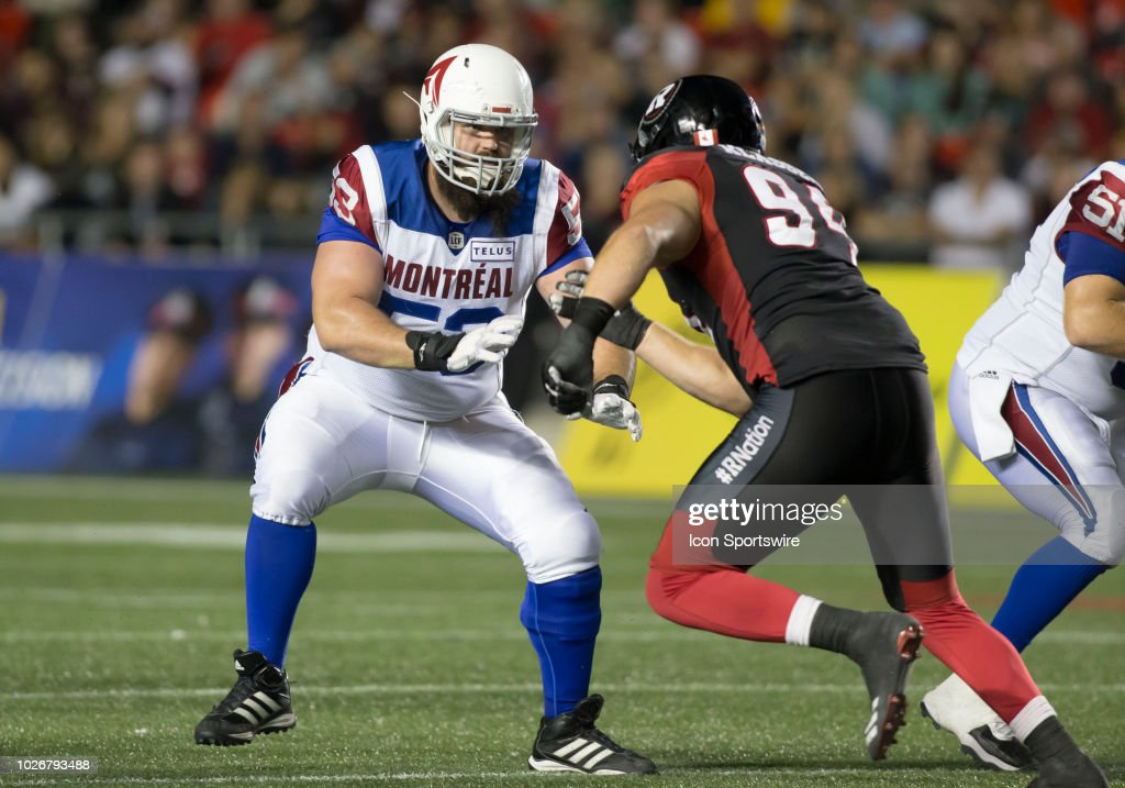 CFL: AUG 31 Montreal Alouettes at Ottawa Redblacks : News Photo