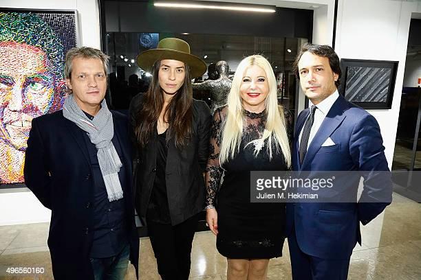 Philippe Georges Andre Tasya Van Ree Monika Bacardi and David SwaelensKane attend the launch of PhotoManagement at galerie Opera on November 10 2015...