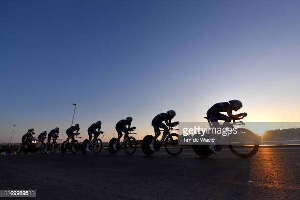 Philippe Gilbert of Belgium and Team Deceuninck-QuickStep / Eros Capecchi of Italy and Team Deceuninck-QuickStep / Remi Cavagna of France and Team...