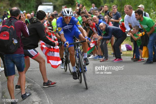 Philippe Gilbert of Belgium and Team Deceuninck-QuickStep / Fernando Barcelo Aragon of Spain and Team Euskadi Basque Country-Murias / Alto de Arraiz...