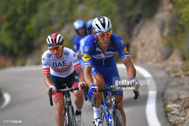 Philippe Gilbert of Belgium and Team Deceuninck-QuickStep / Sergio Luis Henao Montoya of Colombia and UAE Team Emirates / during the 74th Tour of...