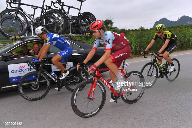 Philippe Gilbert of Belgium and Team QuickStep Floors / Alex Dowsett of Great Britain and Team KatushaAlpecin / Lucas Hamilton of Australia and Team...