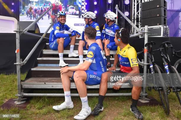Philippe Gilbert of Belgium and Team QuickStep Floors / Alvaro Jose Hodeg Chagui of Colombia and Team QuickStep Floors / Yves Lampaert of Belgium and...