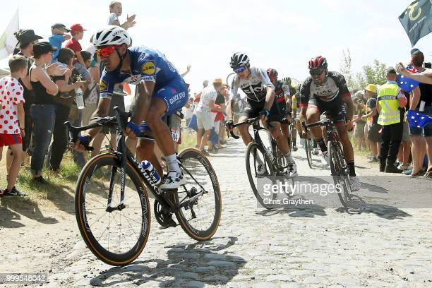 Philippe Gilbert of Belgium and Team QuickStep Floors / Christopher Froome of Great Britain and Team Sky / Oliviero Troia of Italy and UAE Team...