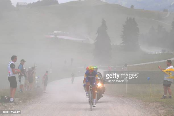 Philippe Gilbert of Belgium and Team Quick-Step Floors / Col Des Glières / Dust / during the 105th Tour de France 2018 / Stage 10 a 158,5km stage...