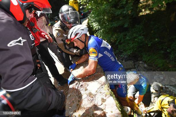 Philippe Gilbert of Belgium and Team Quick-Step Floors / Crash / Injury / during the 105th Tour de France 2018, Stage 16 a 218km stage from...
