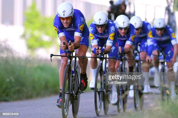 Philippe Gilbert of Belgium and Team QuickStep Floors / during the 3rd Velon Hammer Series 2018 Stage 3 a 496km Team time trial stage from Tom...