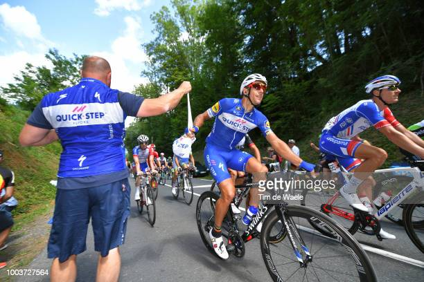 Philippe Gilbert of Belgium and Team QuickStep Floors / Feed Zone / soigneur / during the 105th Tour de France 2018 Stage 15 a 1815km stage from...