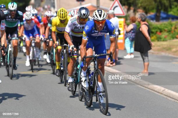Philippe Gilbert of Belgium and Team Quick-Step Floors / Fernando Gaviria of Colombia and Team Quick-Step Floors Yellow Leader Jersey / Peter Sagan...