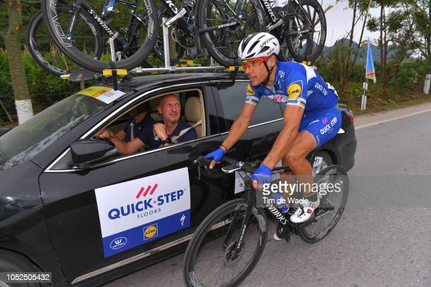 Philippe Gilbert of Belgium and Team QuickStep Floors / Geert Van Bondt of Belgium Sports Director of Team QuickStep Floors / during the 2nd Tour of...