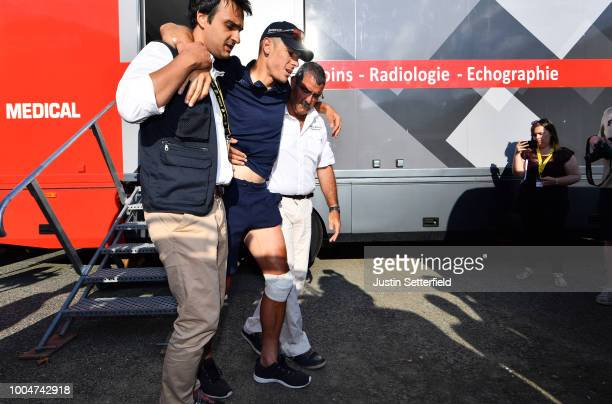 Philippe Gilbert of Belgium and Team QuickStep Floors / Injury / XRay / Medical Assistance / during the 105th Tour de France 2018 Stage 16 a 218km...