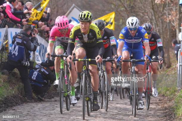 Philippe Gilbert of Belgium and Team Quick-Step Floors / Matteo Trentin of Italy and Team Michelton Scott / Greg Van Avermaet of Belgium and BMC...
