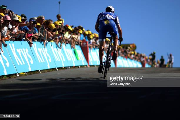 Philippe Gilbert of Belgium riding for Quick-Step Floors rides during stage five of the 2017 Le Tour de France, a 160.5km stage from Vittel to La...