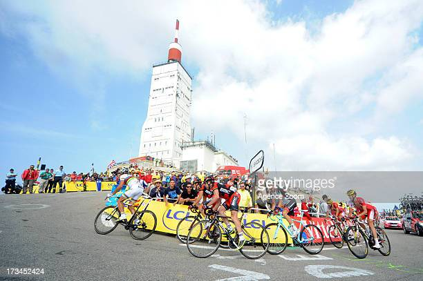 Philippe Gilbert of Team Bmc Racing Cadel Evans of Team Bmc Racing during Stage 15 of the Tour de France on Sunday 14 July Givors to Mont Ventoux...