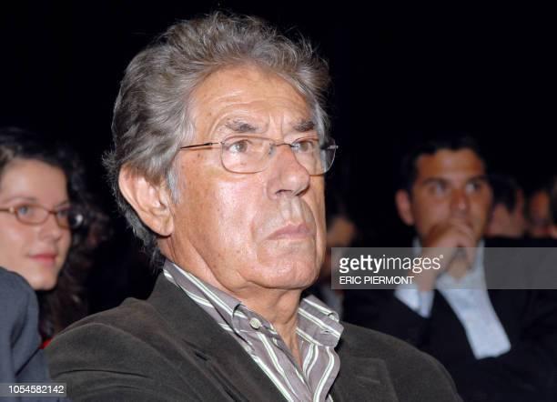 Philippe Gildas journaliste et présentateur de radiotélévision participe le 23 Août 2007 au Palais de Tokyo à Paris à la conférence de presse de...