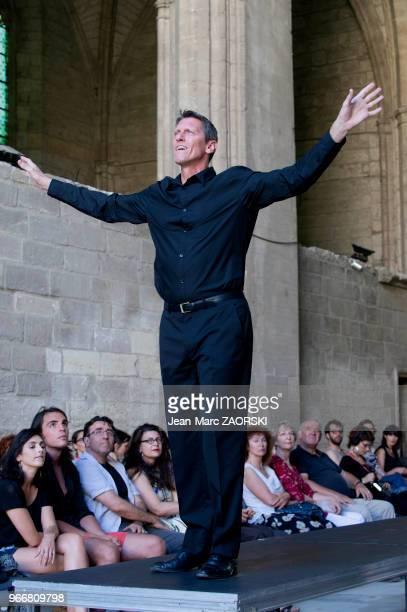 Philippe Girard dans 'Prométhée enchaîné Eschyle pièces de guerre' une adaptation pour le théâtre mise en scène par Olivier Py et présentée en tant...