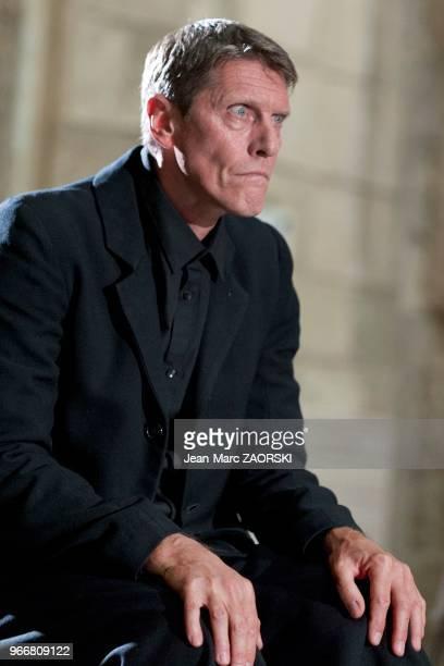 Philippe Girard le 19 juillet 2016 dans 'Les Perses Eschyle pièces de guerre' une adaptation pour le théâtre mise en scène par Olivier Py et...