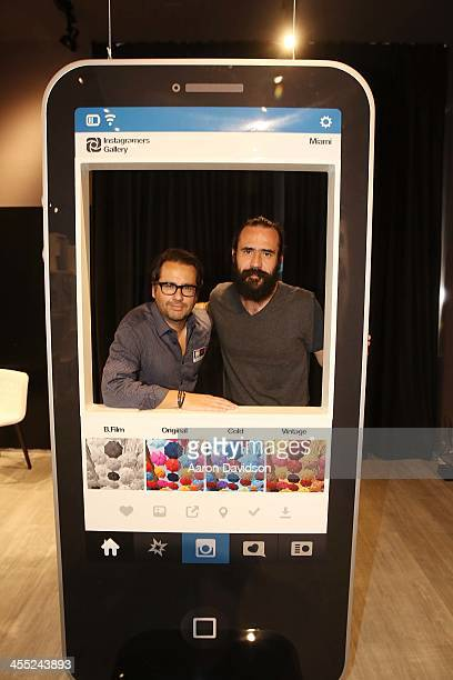 Philippe Gonzalez and Jorge Martinez at the world's first Instagramers Gallery on December 11 2013 in Miami Florida