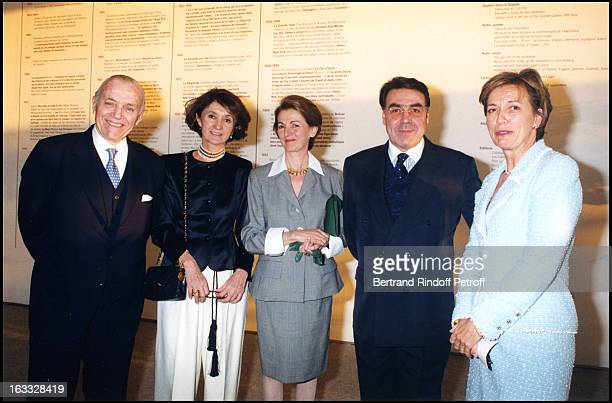 Philippe Guerlain with wife Alain Hivelin and Madame Debre at theFerand Leger Exhibition At Centre George Pompidou In Paris